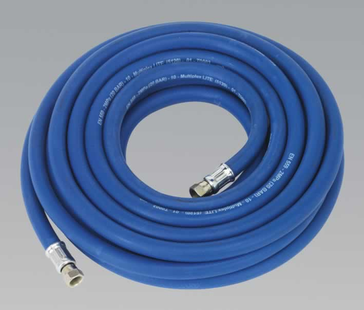 "Air Hose 5mtr x Ø8mm with 1/4""BSP Unions Extra Heavy-Duty"