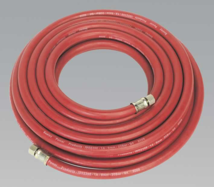 "Air Hose 10mtr x Ø8mm with 1/4""BSP Unions"
