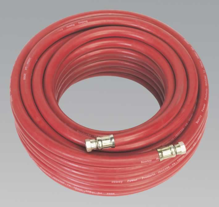 "Air Hose 20mtr x Ø10mm with 1/4""BSP Unions"