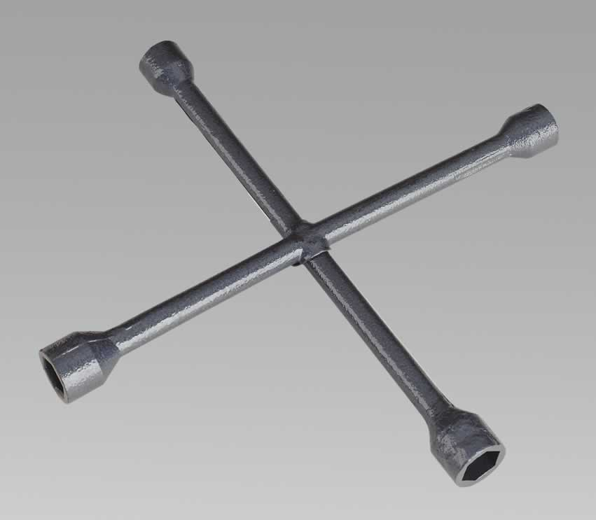 Lug Wrench 4-Way 17, 19, 21, 22mm