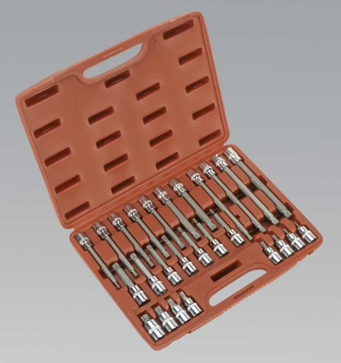 "Spline Socket Bit Set 26pc 1/2""Sq Drive"