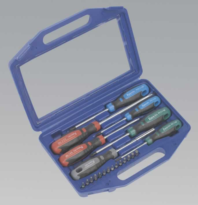 screwdriver set with carry case 21pc gripmax. Black Bedroom Furniture Sets. Home Design Ideas