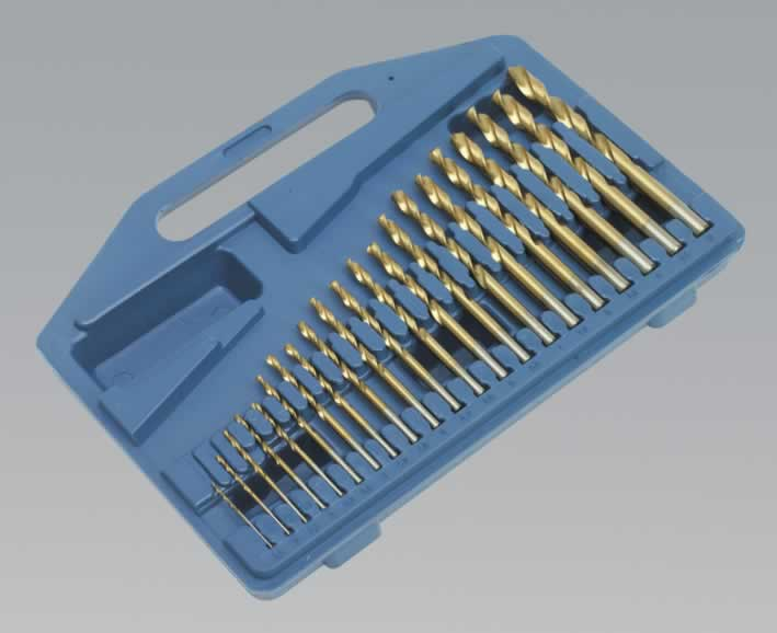 Drill Bit Set 21pc Titanium Coated Metric