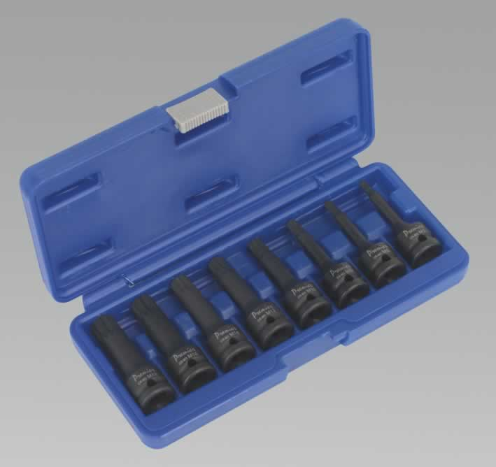 "Impact Spline Key Set 8pc 1/2""Sq Drive"