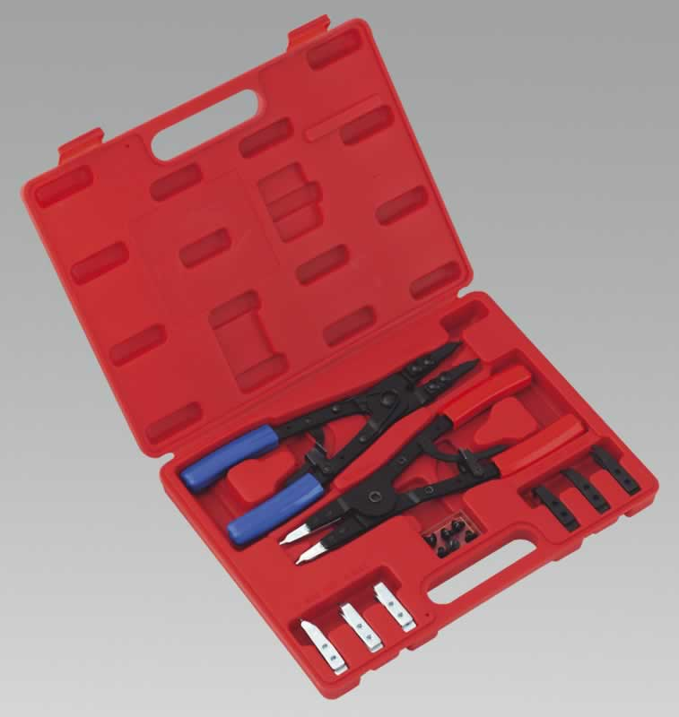 Circlip Pliers Set Internal/External 265mm Heavy-Duty