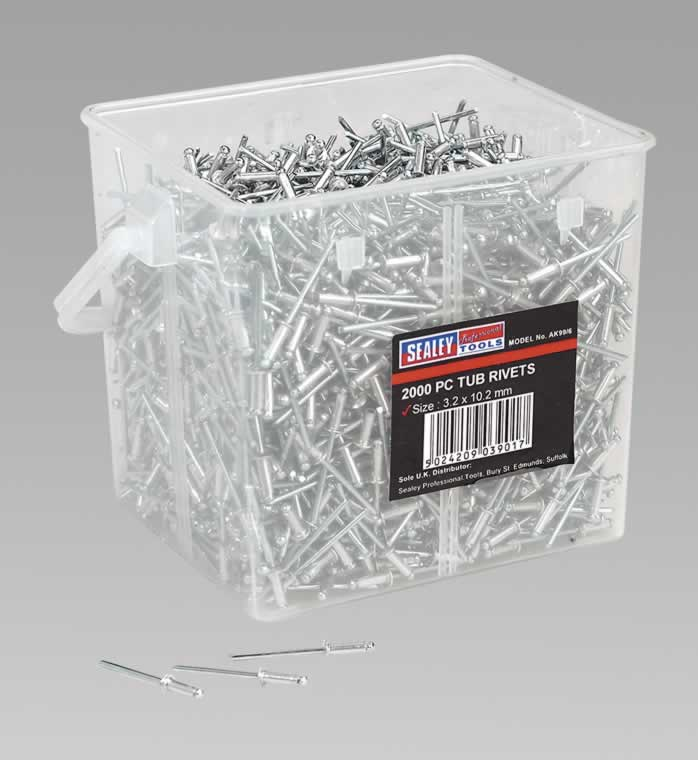 Aluminium Rivets 3.2 x 10.2mm Pack of 2000