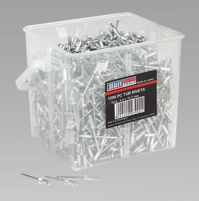 Aluminium Rivets 4.0 x 10.2mm Pack of 1200