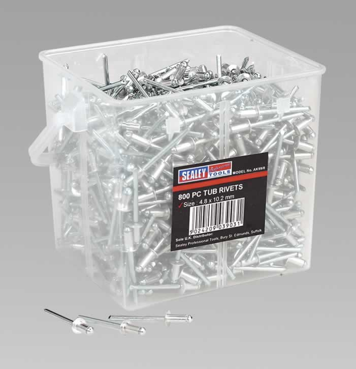 Aluminium Rivets 4.8 x 10.2mm Pack of 800