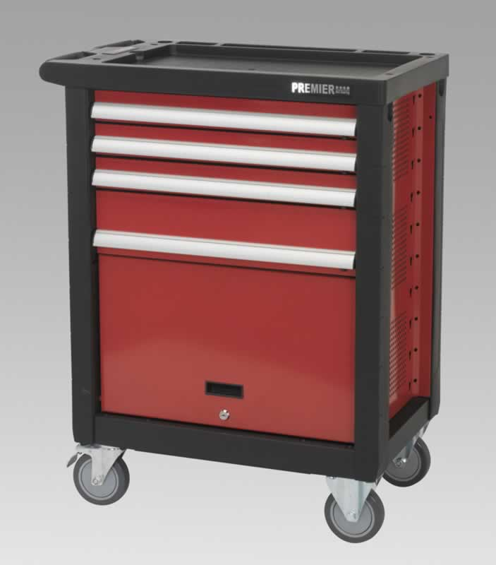 Rollcab 4 Drawer with Ball Bearing Runners