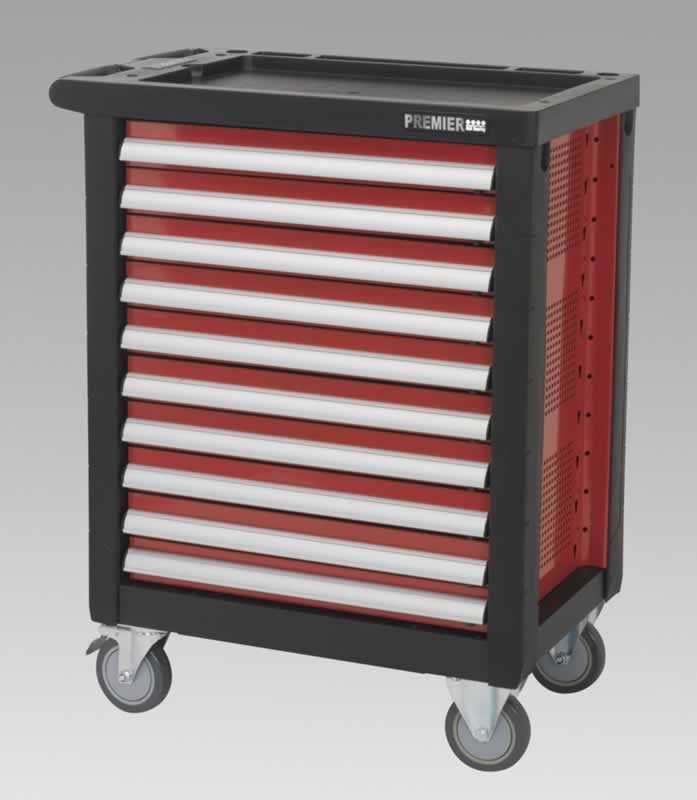 Rollcab 10 Drawer with Ball Bearing Runners