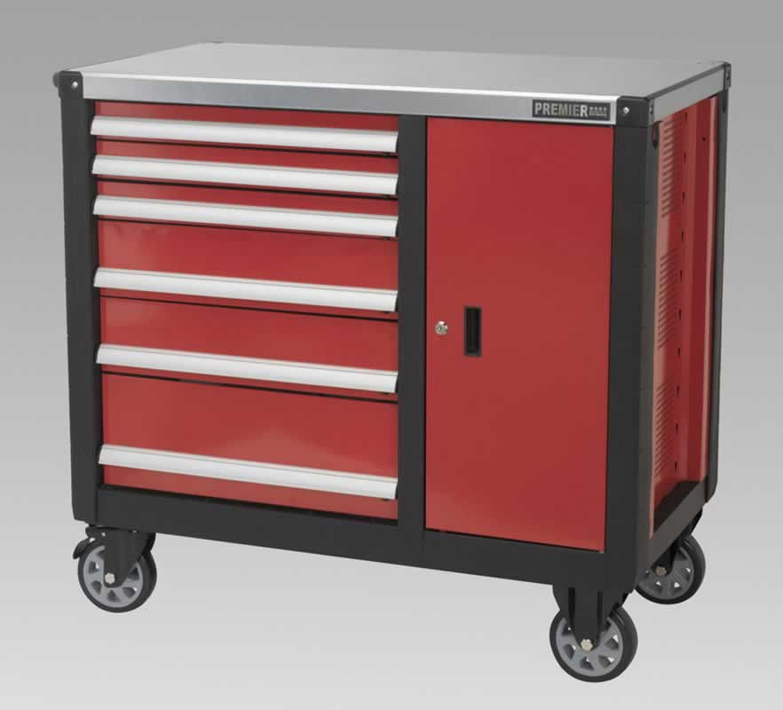 Mobile Workstation 6 Drawer with Ball Bearing Runners