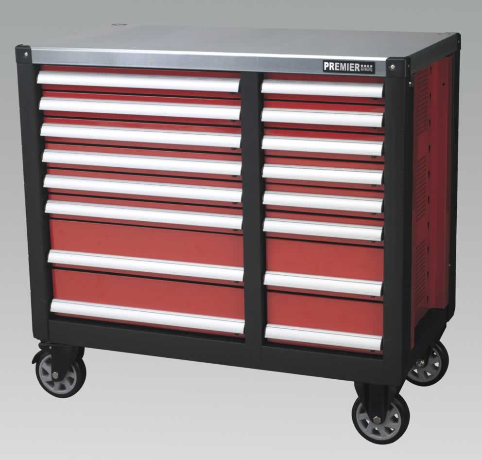 Mobile Workstation 16 Drawer with Ball Bearing Runners  (AHA)
