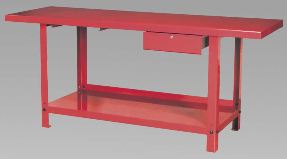 Workbench Steel 2mtr with 1 Drawer