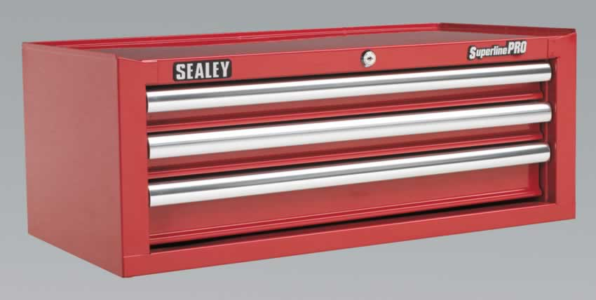Add-On Chest 3 Drawer with Ball Bearing Runners - Red   (AHA)