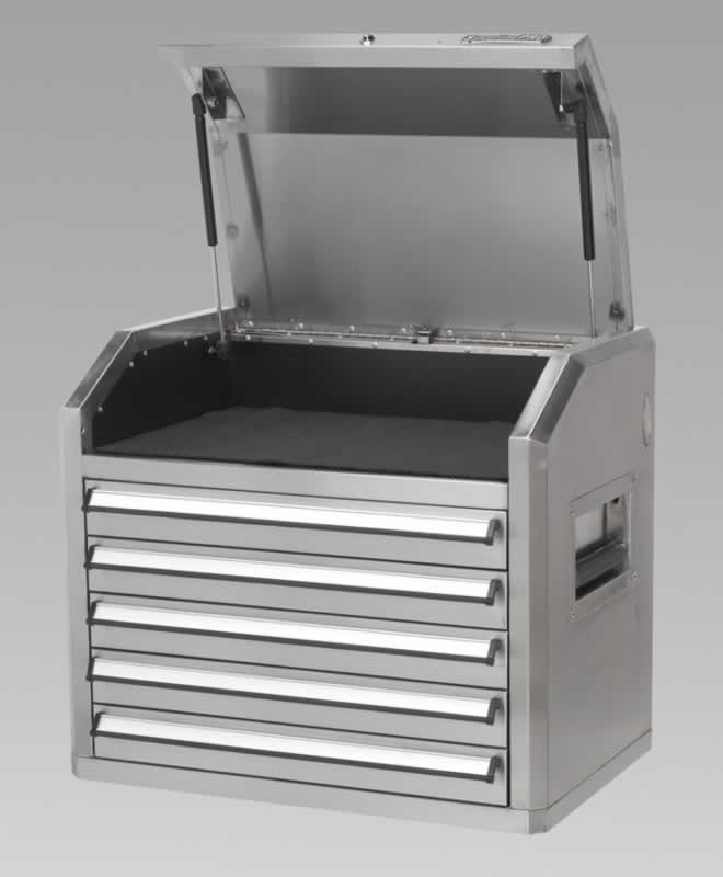 Topchest 5 Drawer with Ball Bearing Runners Stainless Steel
