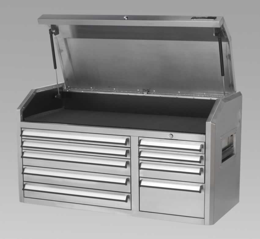 Topchest 9 Drawer with Ball Bearing Runners Stainless Steel