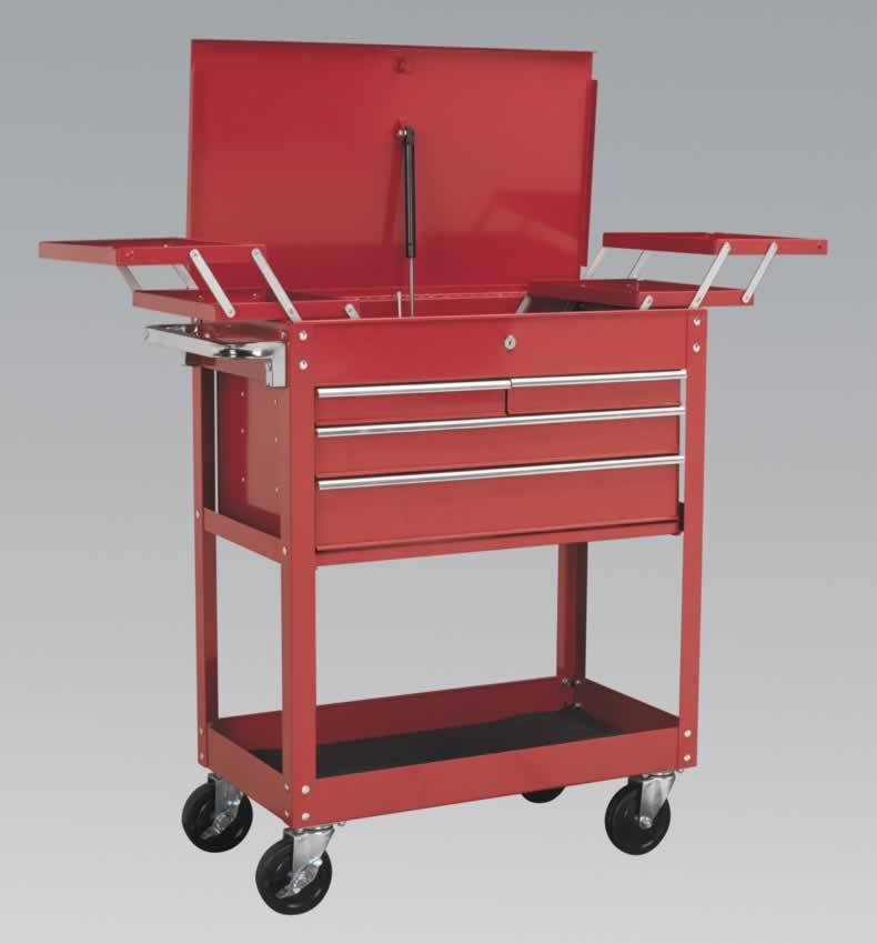 Extra Heavy-Duty Trolley 2-Level with 4 Drawers & Cantilever Trays   (AHC)