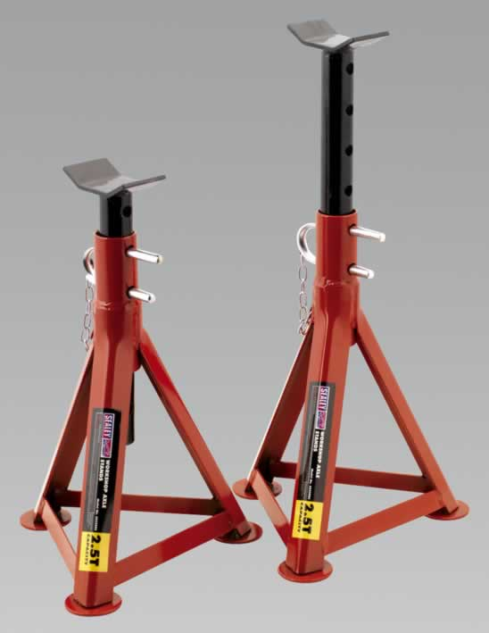 Axle Stands 2.5tonne Capacity per Stand 5tonne per Pair
