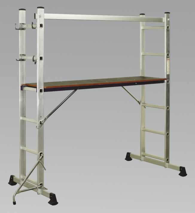 Aluminium Scaffold Ladder 4-Way EN131