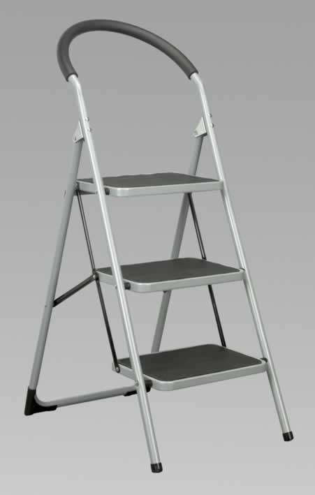 Step Stool 3-Tread 150kg Capacity