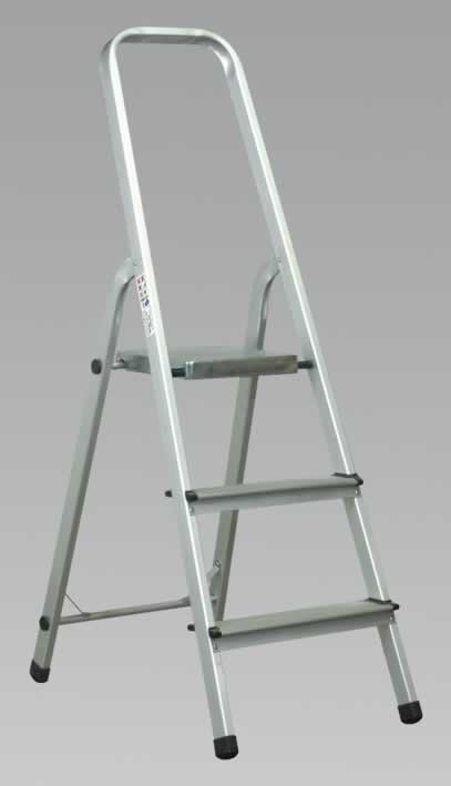 Aluminium Step Ladder 3-Tread EN131