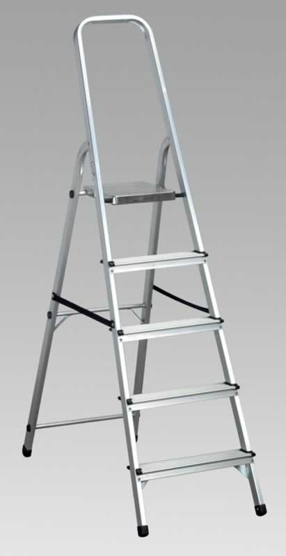 Aluminium Step Ladder 5-Tread EN131