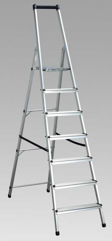 Aluminium Step Ladder 7-Tread EN131