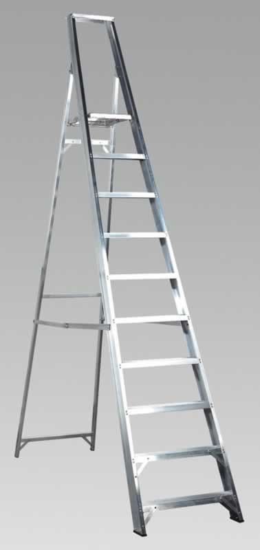 Aluminium Step Ladder 10-Tread Industrial BS2037/1
