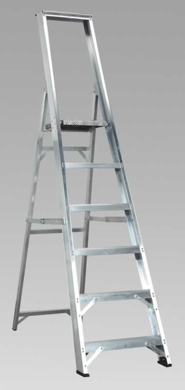 Aluminium Step Ladder 6-Tread Industrial BS2037/1