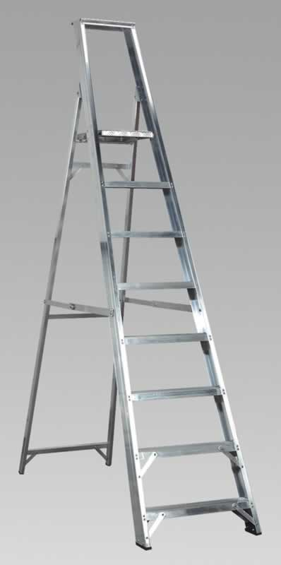 Aluminium Step Ladder 8-Tread Industrial BS2037/1
