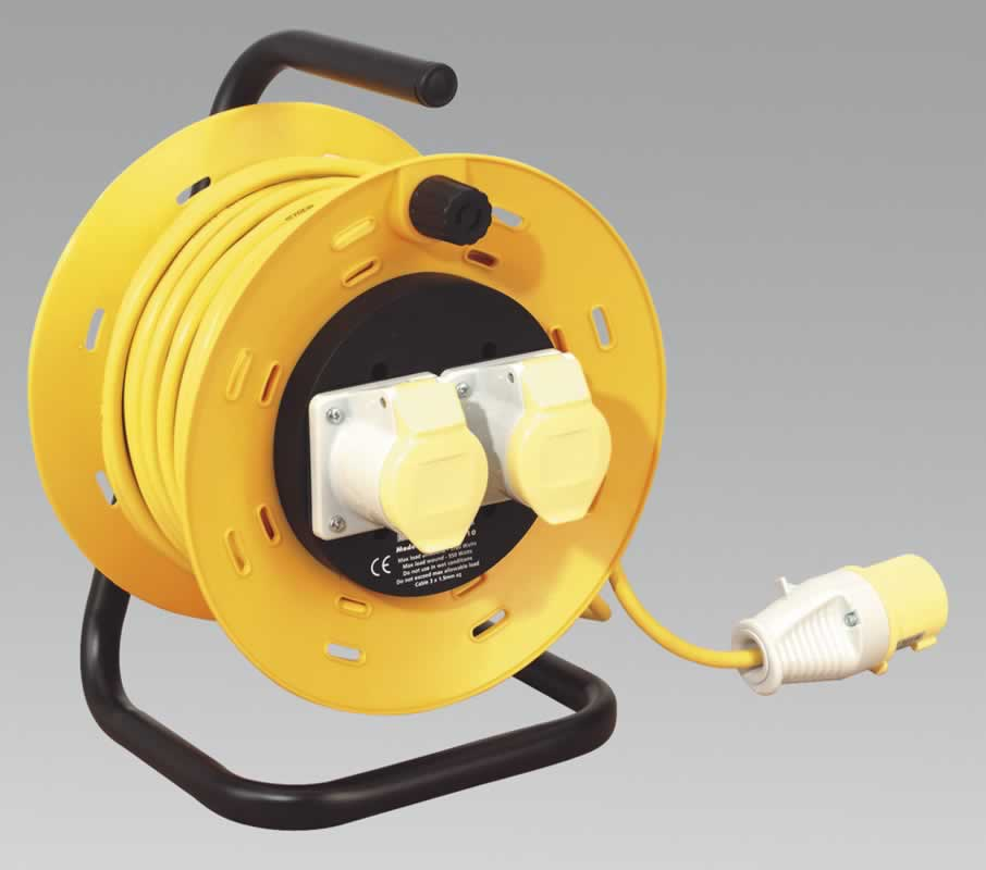 Cable Reel 25mtr 2 x 110V