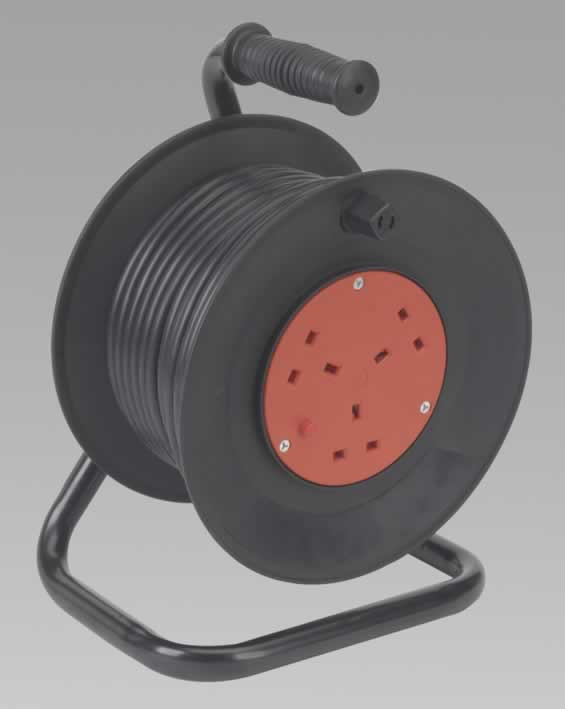 Cable Reel 25mtr 3 Core 230V Thermal Trip