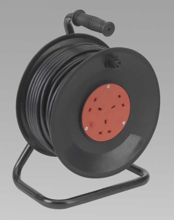 Cable Reel 50mtr 3 Core 230V Thermal Trip