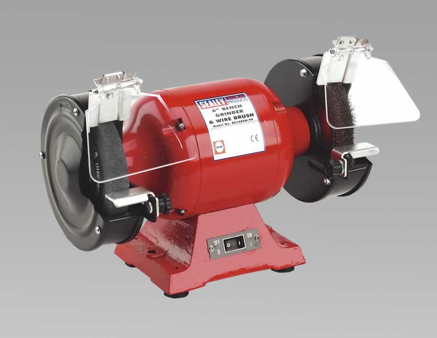 Bench Grinder 150mm with Wire Wheel 450W/230V Heavy-Duty  (G)