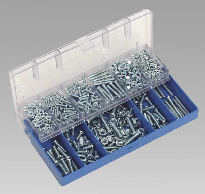 Machine Screw & Hex Nut Assortment 366pc
