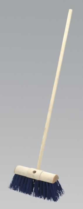 "Yard Broom 13"" Stiff/Hard Bristle"