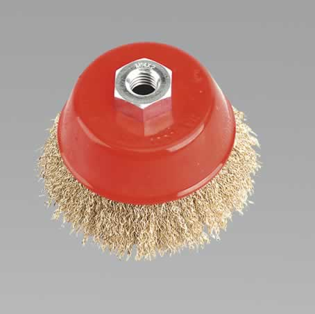 Brassed Steel Cup Brush 100mm M14