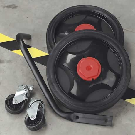 Wheel Kit - Fixed Compressors - 2 Castors & 2 Fixed Wheels