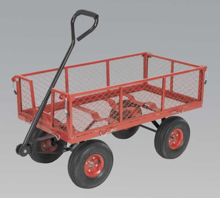 Platform Truck with Sides Pneumatic Tyres 200kg Capacity