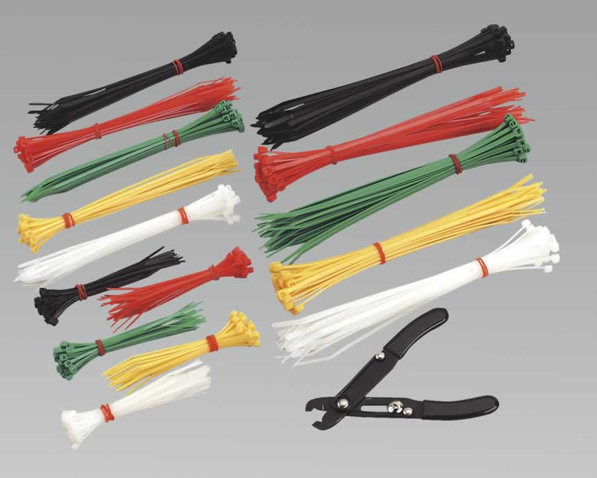 Cable Ties Assorted with Pliers Pack of 375