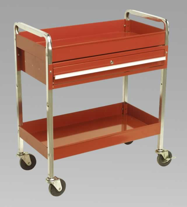 Trolley 2-Level Extra Heavy-Duty with Lockable Drawer