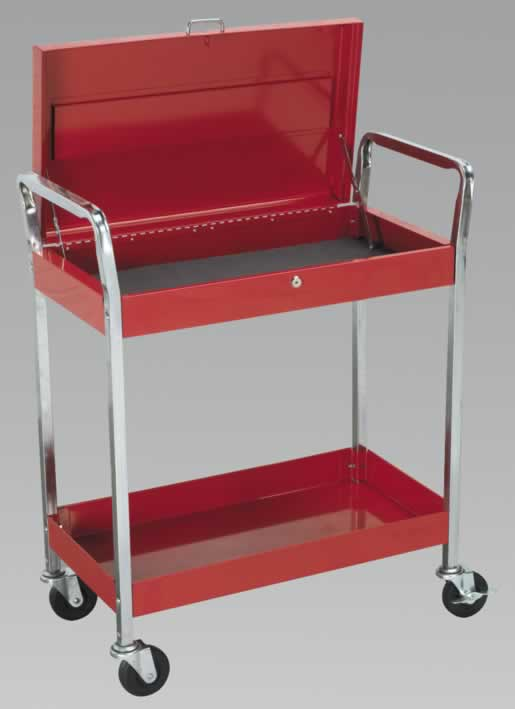 Trolley 2-Level Extra Heavy-Duty with Lockable Top