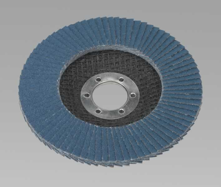 Flap Disc Zirconium Ø115mm 22mm Bore 60Grit