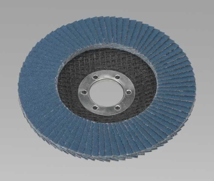 Flap Disc Zirconium Ø115mm 22mm Bore 80Grit