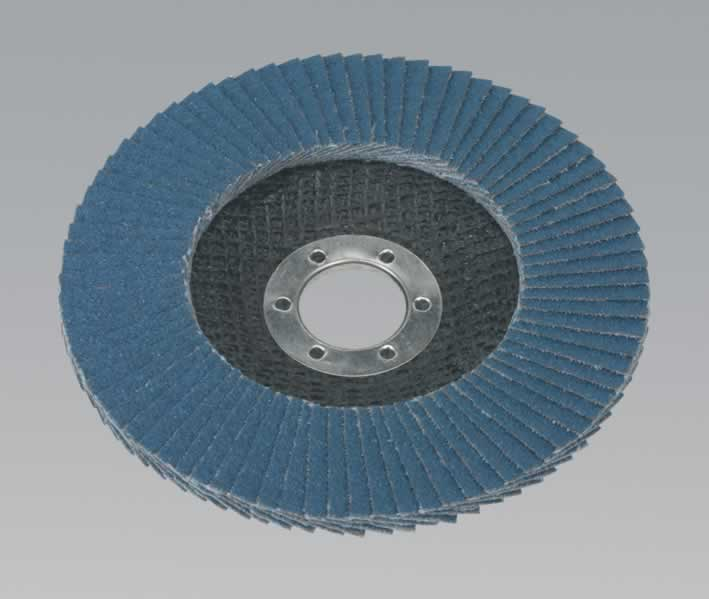 Flap Disc Zirconium Ø125mm 22mm Bore 60Grit