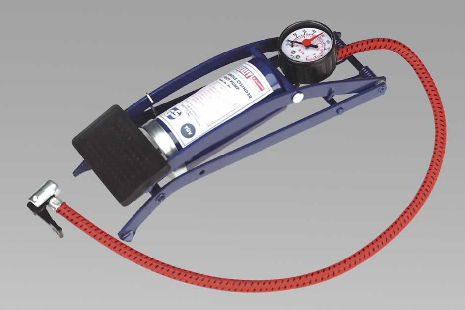 Foot Pump Single Barrel