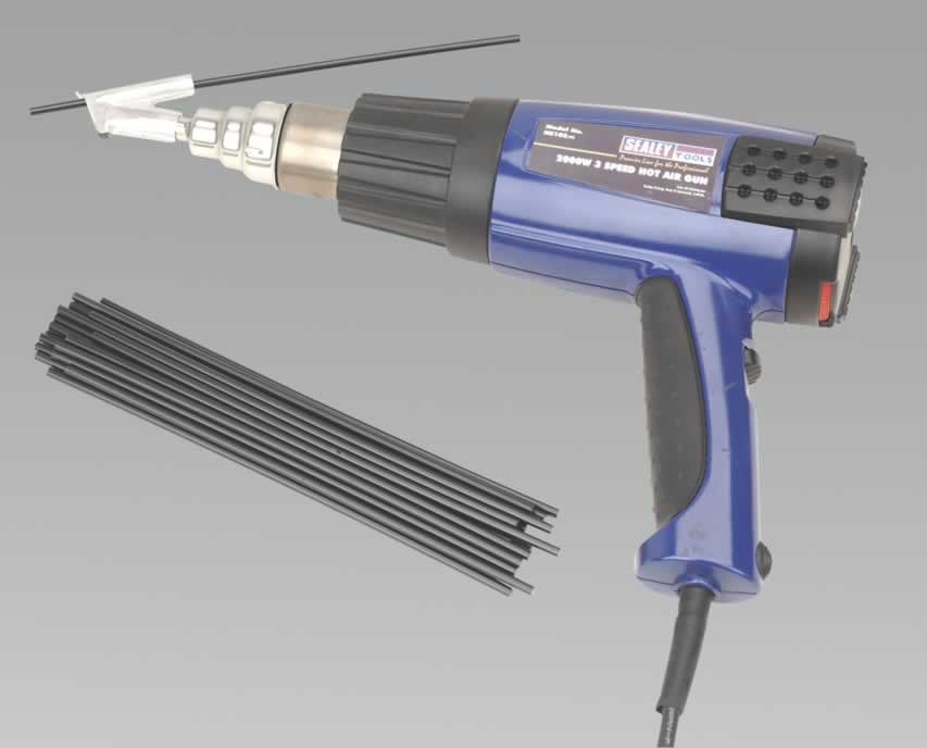 Plastic Welding Kit Inc HS102 Hot Air Gun