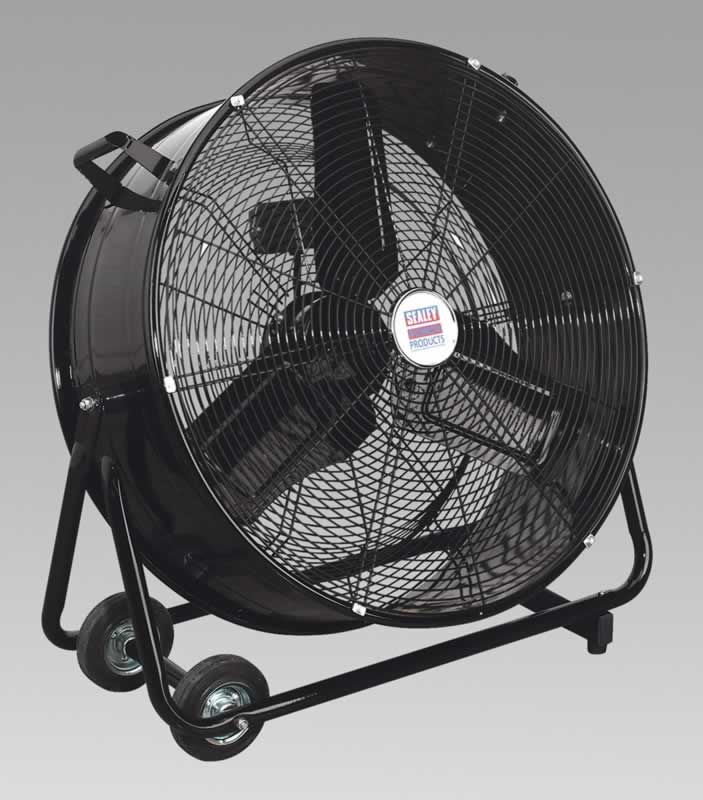 "Industrial High Velocity Drum Fan 24"" 230V"
