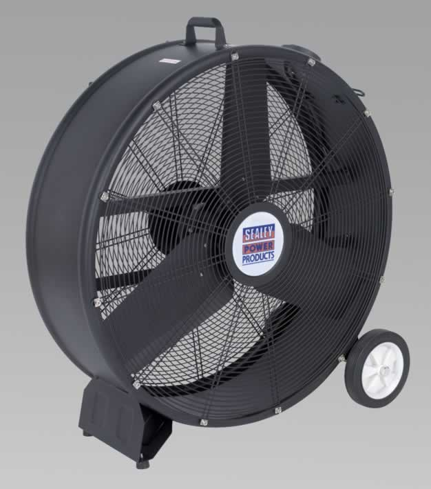 "Industrial High Velocity Drum Fan 30"" 230V"