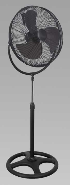 "Industrial High Velocity Pedestal Fan 18"" 230V"
